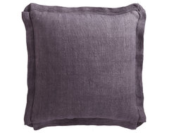 Large Square Linen Pillow traditional-pillows