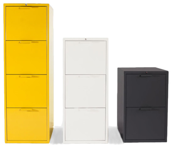 Vertical File Collection - Modern - Media Cabinets - portland - by Heartwork INC
