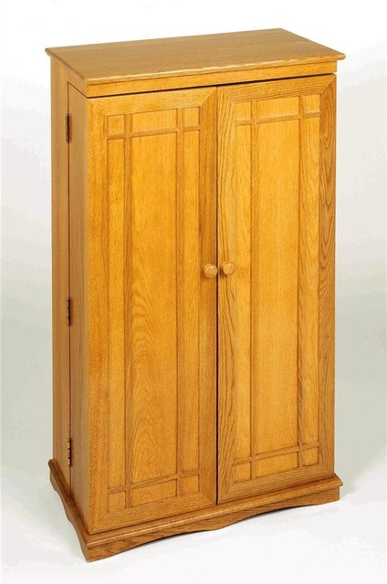Classic Mission Style Multimedia Cabinet in O - Contemporary - Media Cabinets - by ShopLadder