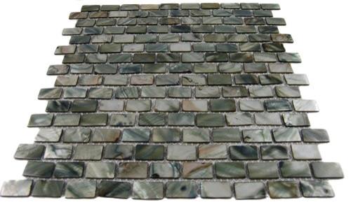 Mini Brick Anchor Gray Pearl Tile Mini Brick Pattern contemporary-tile