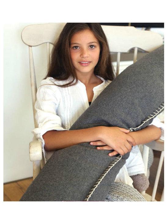 Felt Bolster Cushion, Charcoal Grey -