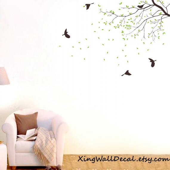 Branch Wall Decals Birds Wall Art