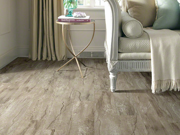 Shaw classico plank lvt click lock cafe traditional vinyl for Floorte flooring