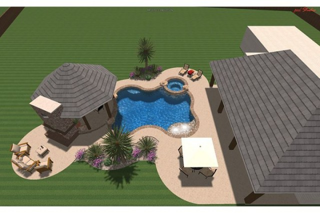 Hardin Residence tropical pool
