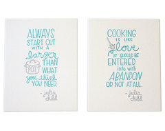 Julia Child Letterpress Print Set contemporary-artwork