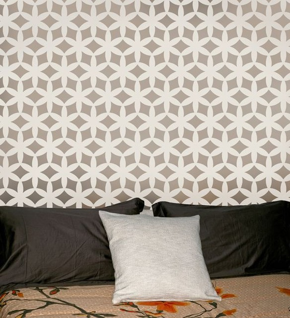 Home Decor Wall Stencils - Modern - Wall Stencils - new york - by ...