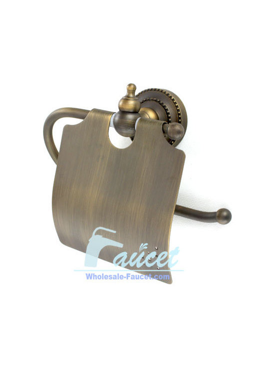 Antique Brass Toilet Paper Holder - Toilet Paper Holder in Antique Brass Finish adds luxury to your bathroom accessories. This toilet paper holder is made of brass with a Antique Brass finish. It is designed to hold 1 roll of toilet paper
