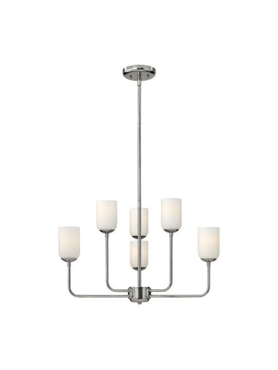 Hinkley Lighting 4216PN 6 Light Chandelier Harlow Collection -