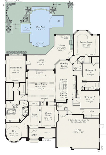 coquina 1177 floor plan tampa by arthur rutenberg homes robert l newman arthur rutenberg homes