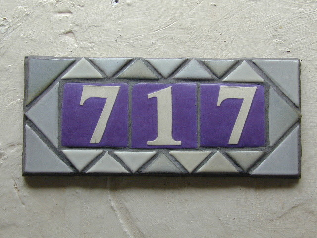 Handmade Tile Address Plaque mediterranean-house-numbers