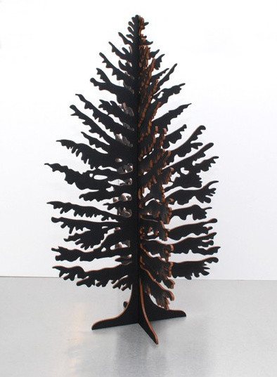 Black Christmas Tree contemporary holiday decorations