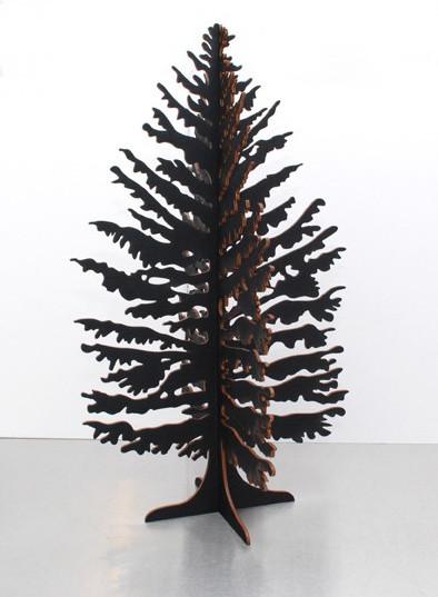 Black Christmas Tree contemporary-holiday-decorations