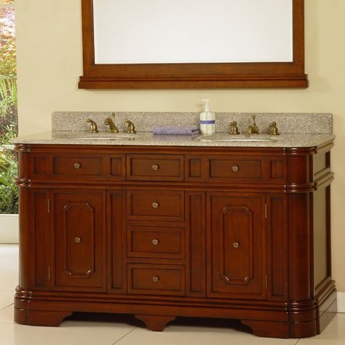 Comteak Bathroom Vanity : Teak Barrington Double Bathroom Vanity traditional-bathroom-vanities ...