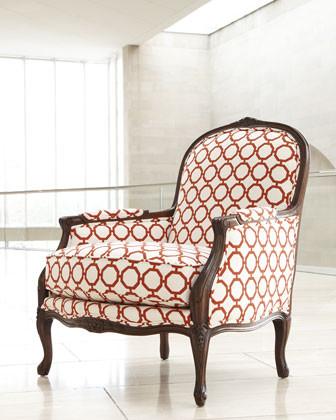 Massoud Poppy-Orange Links Chair traditional-living-room-chairs
