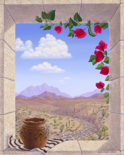 bougainvillea and zia pot wall art southwestern southwestern wallpaper find wallpaper designs online