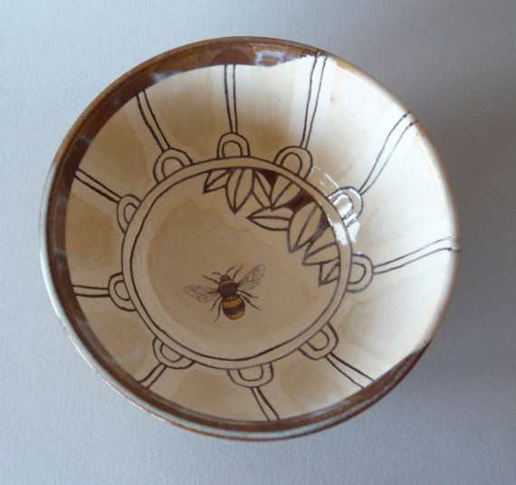 Bee Bowl by Julia Smith Ceramics eclectic dinnerware