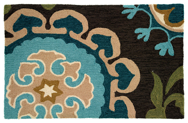 Suzanni Blue Rug contemporary-rugs