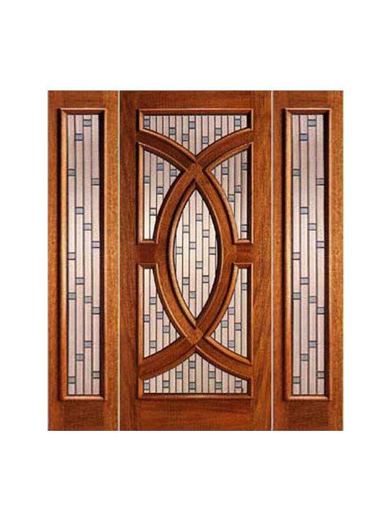 """Mahogany Prehung Single Door and 2 Sidelites, Circle Decorative Glass - SKU#PL-02_1-2BrandAAWDoor TypeExteriorManufacturer CollectionBudget DoorsDoor ModelDoor MaterialWoodWoodgrainMahoganyVeneerPrice2760Door Size Options[30""""+2(12"""") x 80""""] (4'-6"""" x 6'-8"""")  $0[36""""+2(12"""") x 80""""] (5'-0"""" x 6'-8"""")  +$20[30""""+2(12"""") x 96""""] (4'-6"""" x 8'-0"""")  +$520[36""""+2(12"""") x 96""""] (5'-0"""" x 8'-0"""")  +$540Core TypeSolidDoor StyleCircle , ModernDoor Lite StyleRadius LiteDoor Panel StyleHome Style MatchingContemporary , VictorianDoor ConstructionEngineered Stiles and RailsPrehanging OptionsPrehungPrehung ConfigurationDoor with Two SidelitesDoor Thickness (Inches)1.75Glass Thickness (Inches)3/4Glass TypeTriple GlazedGlass CamingZincGlass FeaturesTempered , Insulated , BeveledGlass StyleGlue ChipGlass TextureGlass ObscurityDoor FeaturesDoor ApprovalsDoor FinishesDoor AccessoriesWeight (lbs)850Crating Size25"""" (w)x 108"""" (l)x 52"""" (h)Lead TimeSlab Doors: 7 daysPrehung:14 daysPrefinished, PreHung:21 daysWarranty"""
