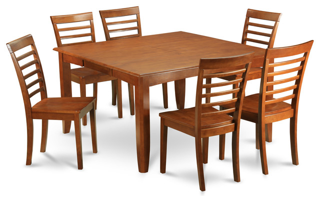 formal dining room set square dining table with leaf and 6 dining