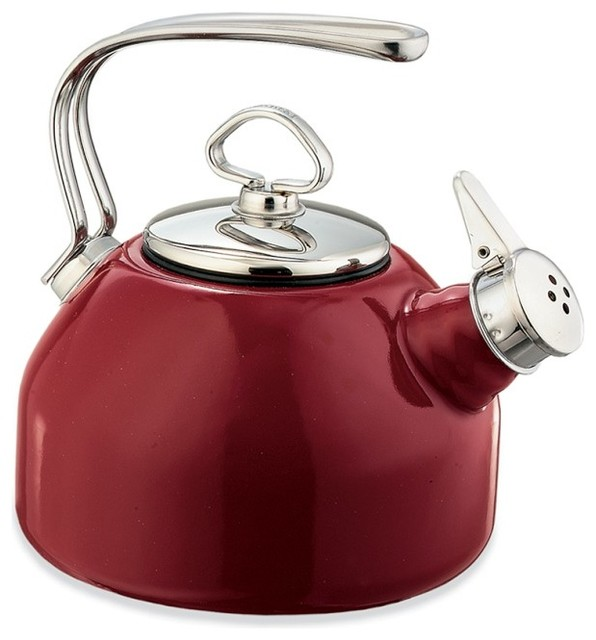 Chantal whistling teakettle red kettles by williams sonoma - Chantal teapots ...