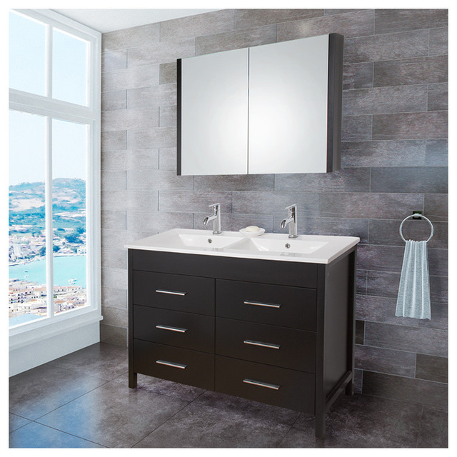 ... with Medicine Cabinet - S modern-bathroom-vanities-and-sink-consoles