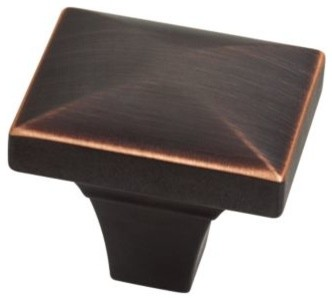Liberty Hardware P19446C-VBC-CP 0 1.75 Inch Rectangle Knob - Bronze modern-cabinet-and-drawer-knobs