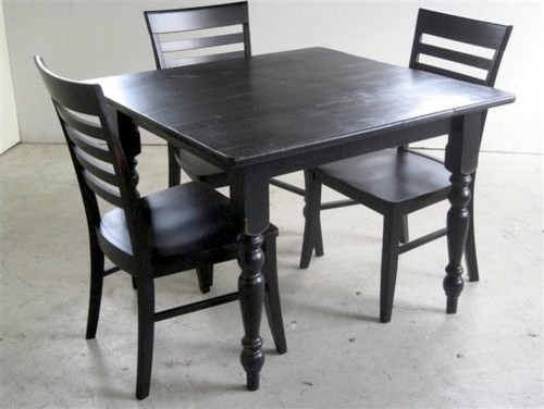 Small square kitchen table farmhouse dining tables boston by ecustomfinishes - Kitchen tables for small kitchens ...