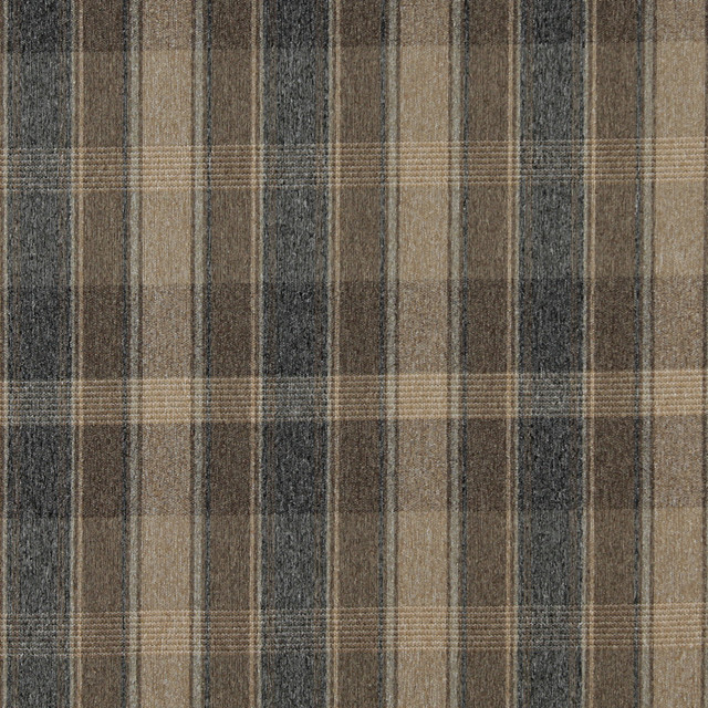 Dark Blue And Beige Large Plaid Country Tweed Upholstery