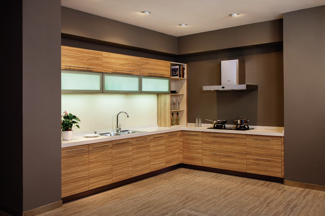Melamine moden kitchen cabinet design - Modern - Kitchen Cabinetry ...