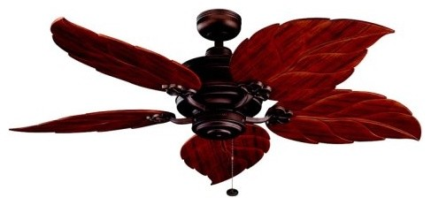 Kichler 320102WCP/370022 52 in. Crystal Bay Outdoor Ceiling Fan - Weathered Copp tropical-ceiling-fans