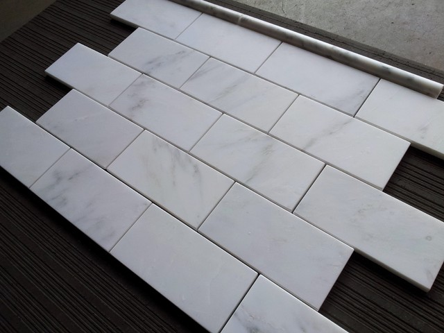Carrara Marble Tile Carrara Venato 3x6 Subway Tile Floor Tiles