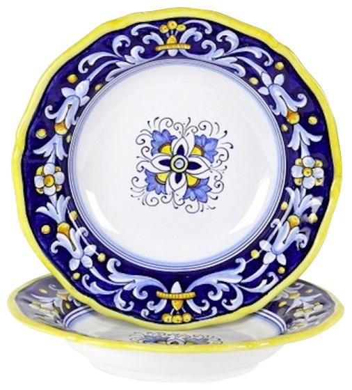 Mediterranean Style Dinnerware: Antico Deruta: Pasta/Soup Bowl