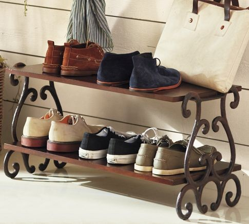 Moran Shoe Rack Mediterranean Shoe Storage By Pottery Barn