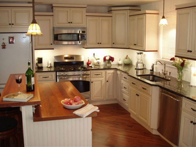 Antique White Kitchen Cabinets Home Design - Traditional - Kitchen Cabinetry - columbus - by ...