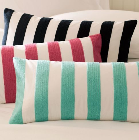 Cottage Stripe Pillow Covers contemporary pillows