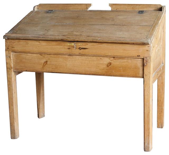 Vintage Industrial Sloped Top Desk desks-and-hutches