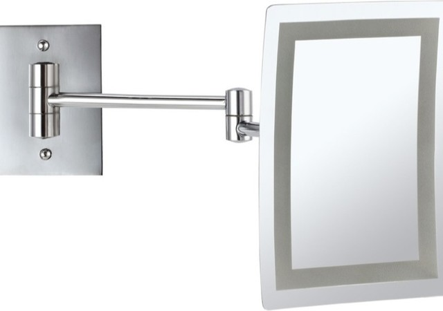 led lighted 3x makeup mirror contemporary makeup mirrors by. Black Bedroom Furniture Sets. Home Design Ideas