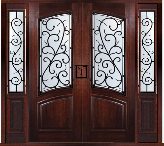 Prehung Custom Double Door with Two Sidelights Bellagio Style - Traditional - Front Doors ...