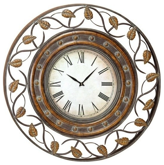 36 french quarter metal art decor wall clock
