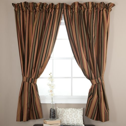 Ellis Curtain Mateo Stripe Lined Curtain Panel traditional-curtains