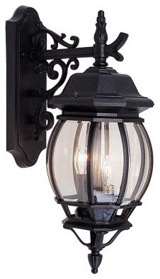 Livex Frontenac 7707-04 Outdoor Hanging Wall Lantern - 21.5H in. Black modern-outdoor-lighting