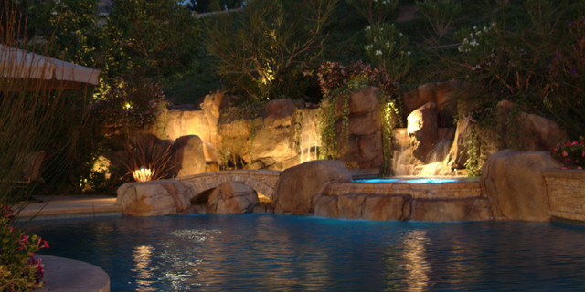 Landscape design contemporary pool