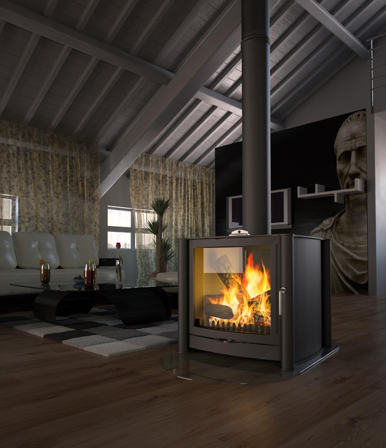 Firebelly Wood Burning Stove Contemporary Freestanding Stoves Other Metro By Fireplace