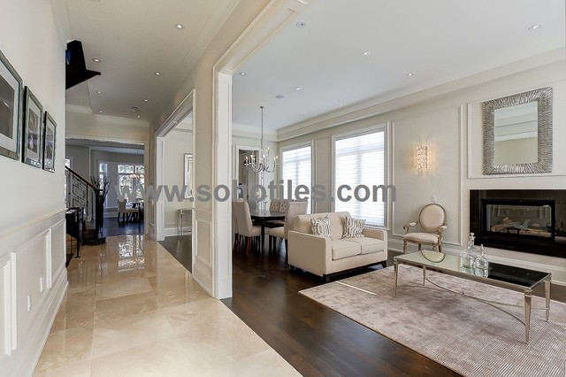 Botticino Marble Residential/ Toronto modern-wall-and-floor-tile
