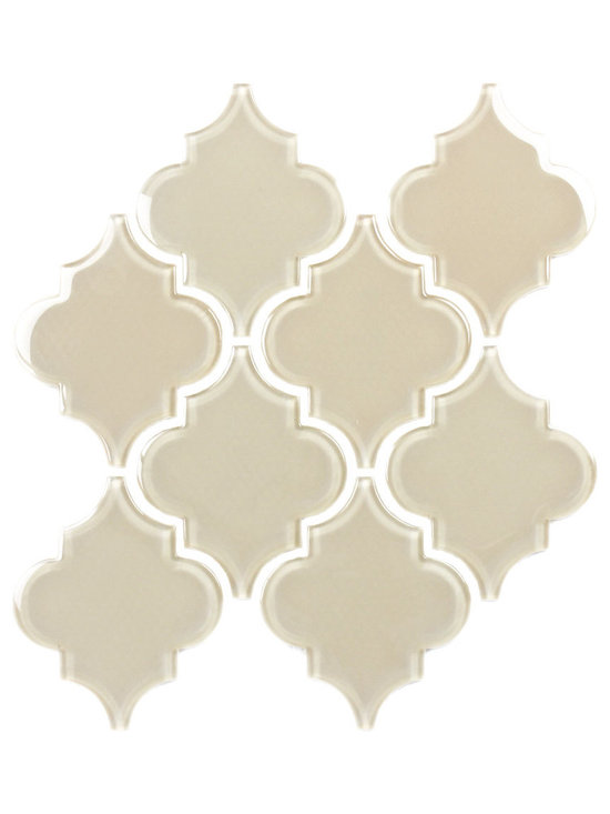 Sand Arabesque Glass Tile Mosaic