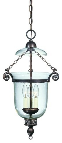Savoy House 7-80023-3 Williamsburg Three Light Foyer Pendant from the Crabapple traditional-pendant-lighting