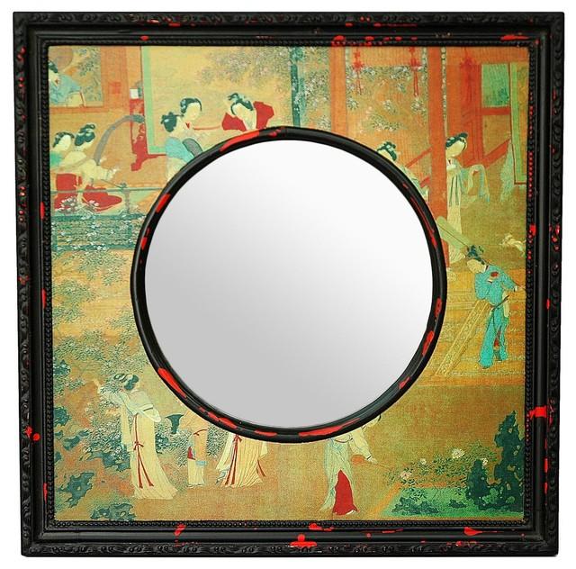 "20"" Village Scene Mirror traditional-mirrors"