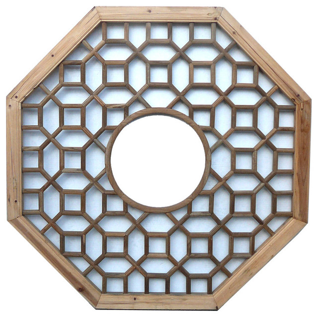 Wood Patten Center Circle Decor Wall Panel Asian Screens And Wall