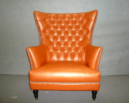 LOOSE FURNITURES - CLASSIC LEATHER WING CHAIR