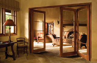 Wood bi fold for Mediterranean interior doors